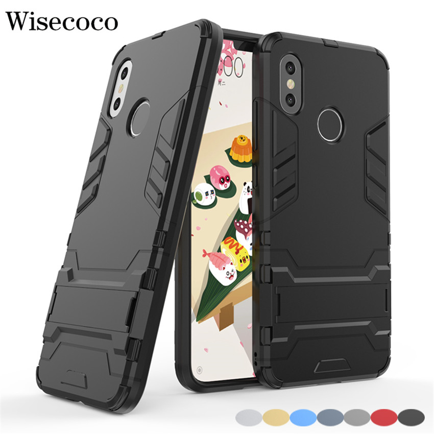 For Xiaomi Mi 9 8 6 6X 5X A1 A2 Mix 2 2S Max 3 Case Shockproof Armor Stand Cover for Mi Redmi S2 Y2 4A 4X Note 7 6 5 5A Pro Plus image
