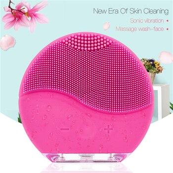 Brosse de nettoyage du visage en Silicone électrique étanche Vibration sonique outil de soin du visage Portable Rechargeable réglable 47