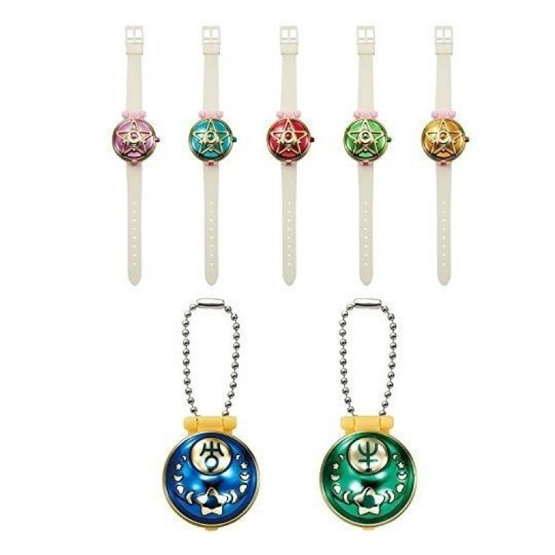 Sailor Moon Capsule Communication instrument machine Accessory Gashapon Figure Anime Toy Full Set 100% Original sailor moon stained crystal light gashapon set of 4 japan anime mascot 100% original