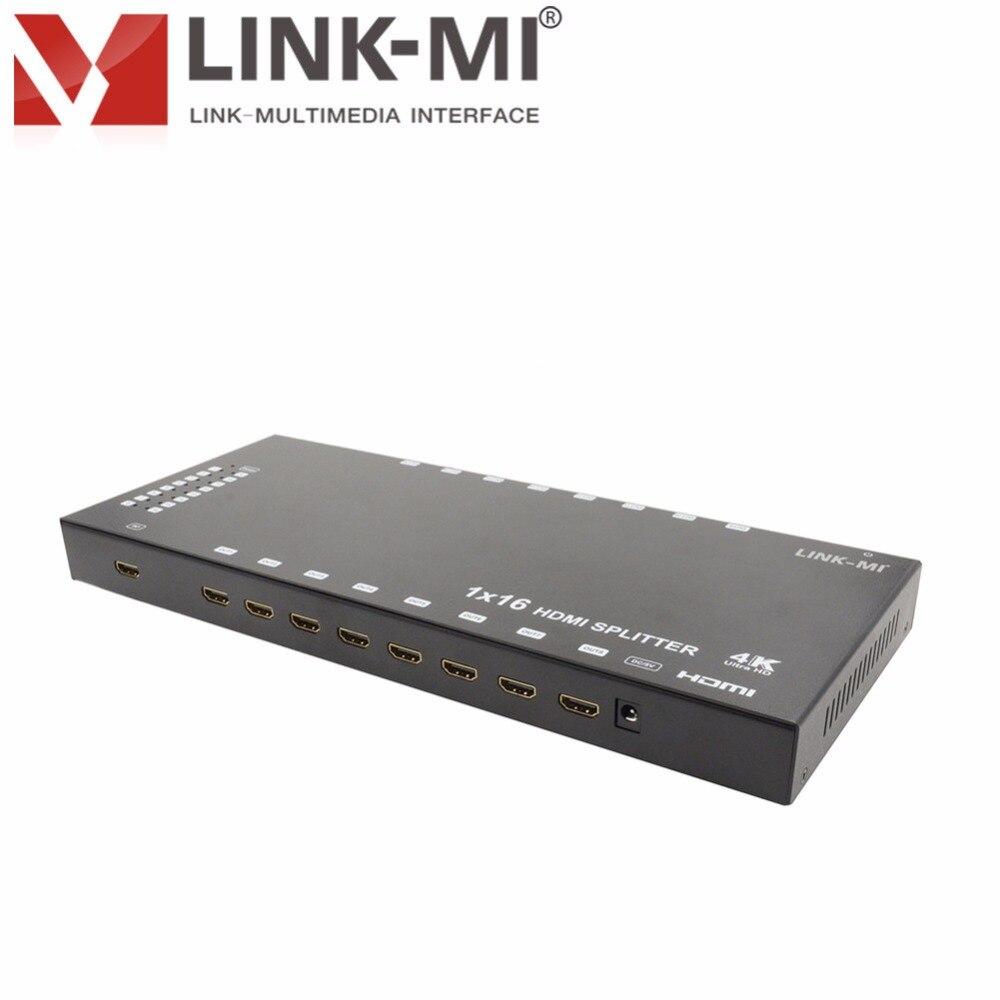 LINK-MI SP16-4K2K HD vidéo 1x16 HDMI séparateur W/3D 4 K x 2 K hd séparateur 1x8 1x2 1x4 3D vidéo