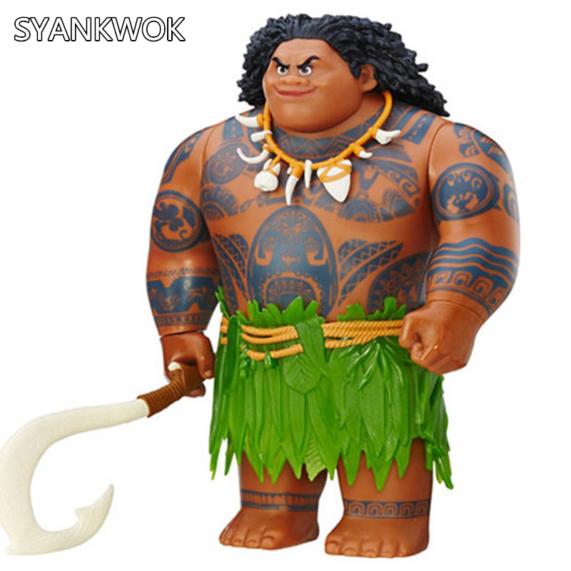 20cm Moana Movie Doll Waialiki Maui Figures Music Maui dolls Moana Action Figure Toy Christmas Birthday Gifts For Baby & Girl gonlei moana waialiki maui heihei abs weapons light sound saber fishing action figures moana adventure abs toy lightsaber gift