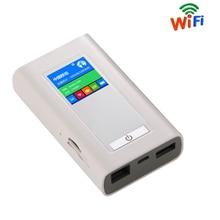 FDD-LTE Módem 4G Wifi Router inalámbrico Mifi Portátil Unlock Dongle 5200 MAh Banco de Potencia LR511A Dos Tarjeta SIM Ranura RJ45 puerto