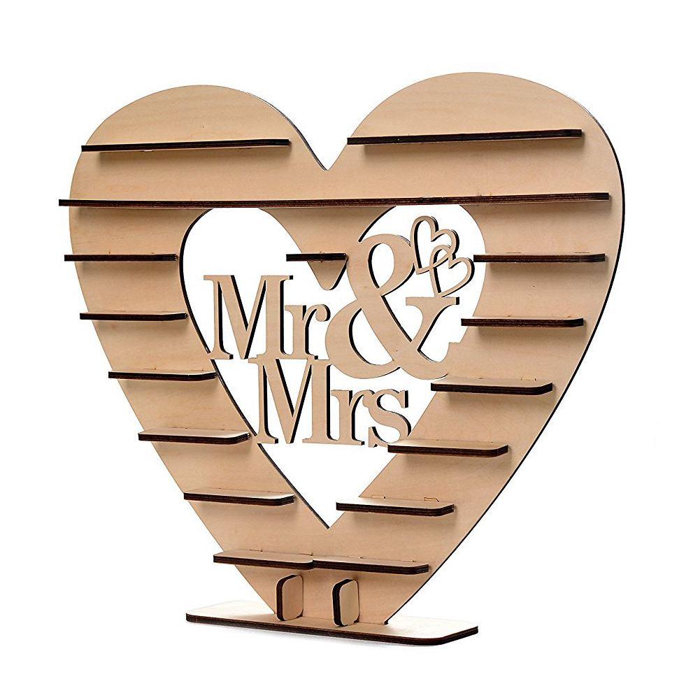 VENDITA CALDA Mr & Mrs Cuore di Cioccolato Albero Display Stand Centrotavola di Nozze