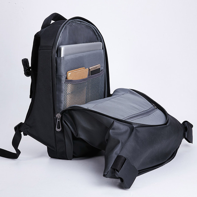 KALIDI Brand Fashion Men Backpack Black Multifunction School Travel Unisex Women Laptop Backpack 15.6 inch For Men Women