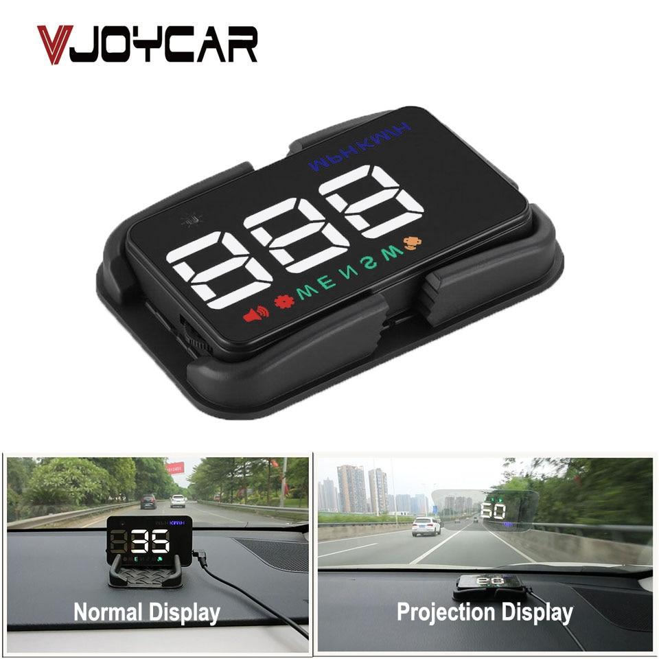 Carro universal hud gps velocímetro speedo cabeça up display a5 digital sobre velocidade alerta brisa projetor de navegação automática
