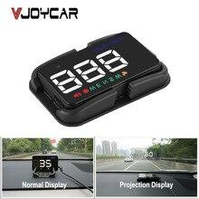 عداد السرعة العالمي HUD للسيارات مزود بنظام تحديد المواقع ومقياس السرعة وشاشة عرض علوية A5 رقمي مع إنذار للسرعة جهاز ملاحة الزجاج الأمامي