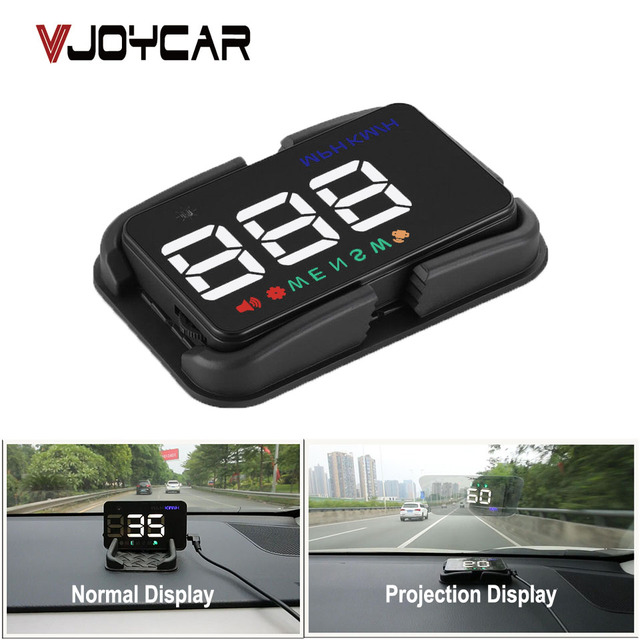 Universal Car HUD GPS Tachimetro Speedo Head Up Display A5 Digitale Su Allarme di Velocità Parabrezza Projetor Auto di Navigazione