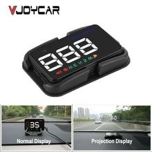 """Vjoycar EM03b Универсальный 4 """"Автомобиль HUD GPS Скорость ometer Скорость Head Up Дисплей цифровой overspeed сигнализации лобовое стекло проектор и Держатель"""