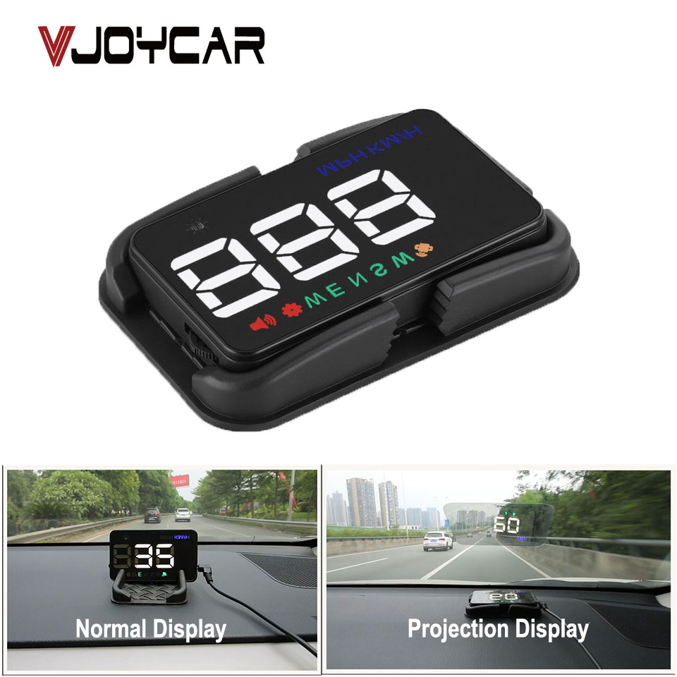 VJOYCAR Universel De Voiture HUD indicateur de vitesse gps Speedo Head Up Display Numérique Plus de Vitesse Alerte Pare-Brise Projetor Auto Navigation