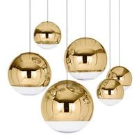 Sliver Gold mirror Chandelier Kitchen Dining room Restaurant glass balls chandelier home tom dixon replica design pedant lamp
