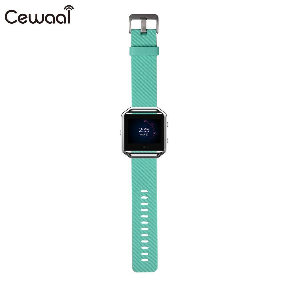 Ремешок для часов маленький ремешок для часов TPE замена Смарт-часы поставки Fitbit Blaze - Цвет: green
