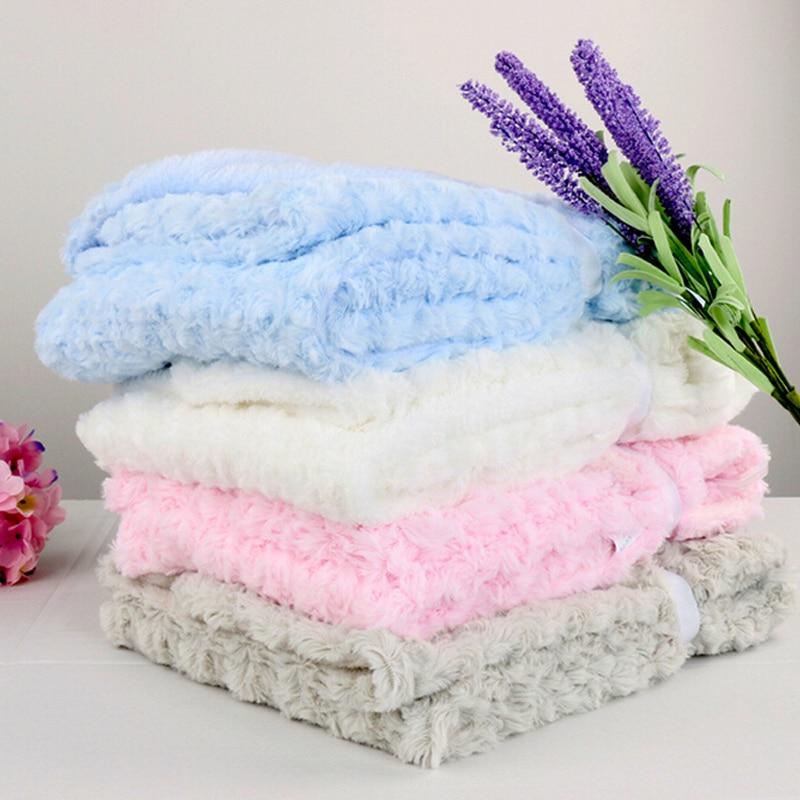 Rose Velvet Baby Blanket High Quality Baby Swaddle Wraps Swaddling