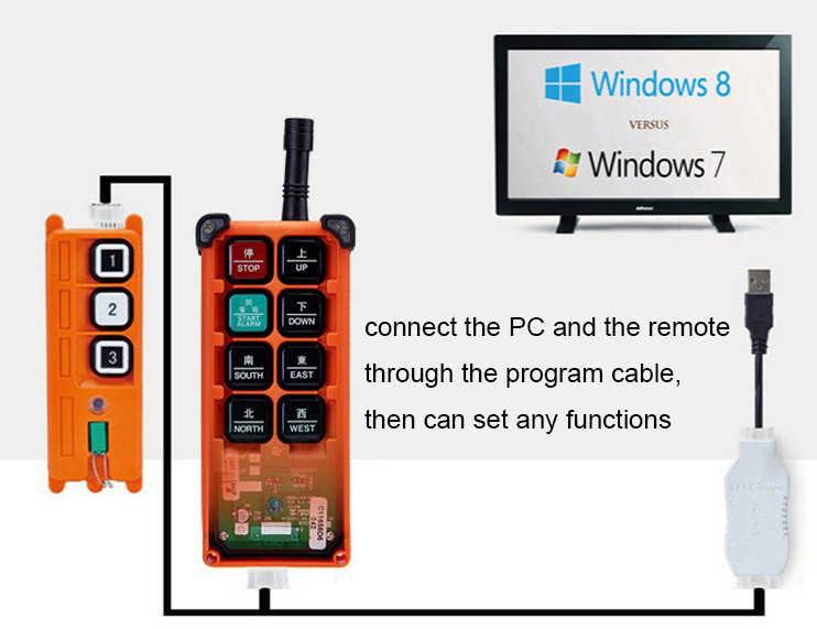 JoHigh przemysłowe Cran pilot zdalnego akcesoria oprogramowania programu kabel do transmisji danych