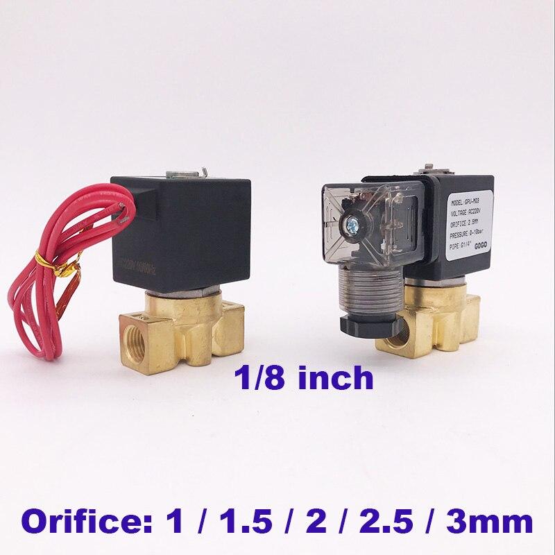 Ventil Sanitär Ehrlich Gogo 0-50/25/15/10/7bar Messing Wasser Mini Magnetventil Null Druck Starten Port 1/8 Zoll 12 V 24 V 220 V Ac Regel Nahe Ventil
