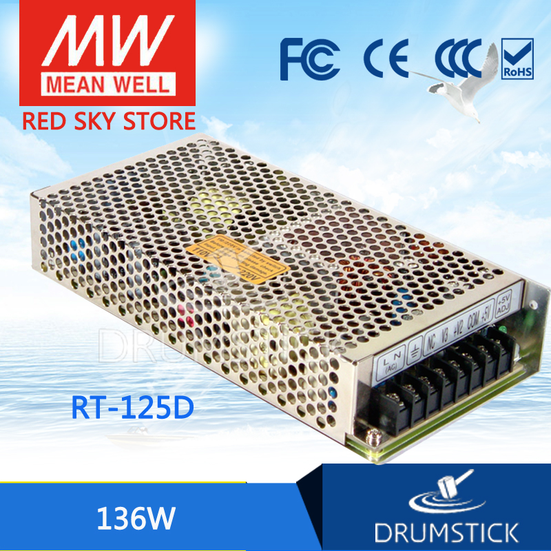Selling Hot MEAN WELL RT-125D meanwell RT-125 136W Triple Output Switching Power Supply mean well original rt 50d meanwell rt 50 51w triple output switching power supply
