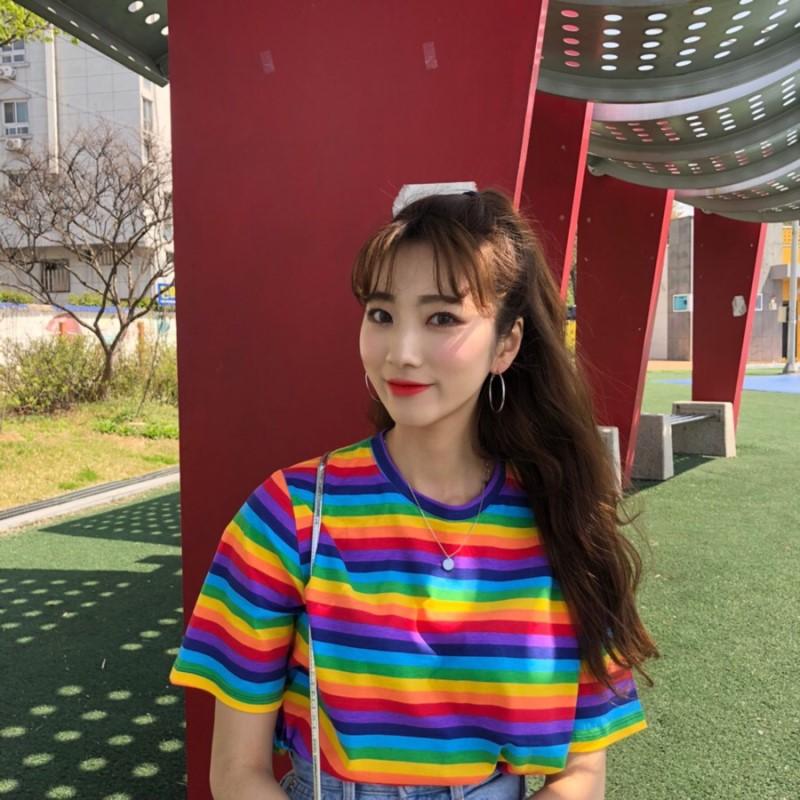 0d470473e 2019 nueva carta impresa Tumblr camisetas Harujuku Kawaii tapas amigos Tv T  camisa mujeres camiseta de