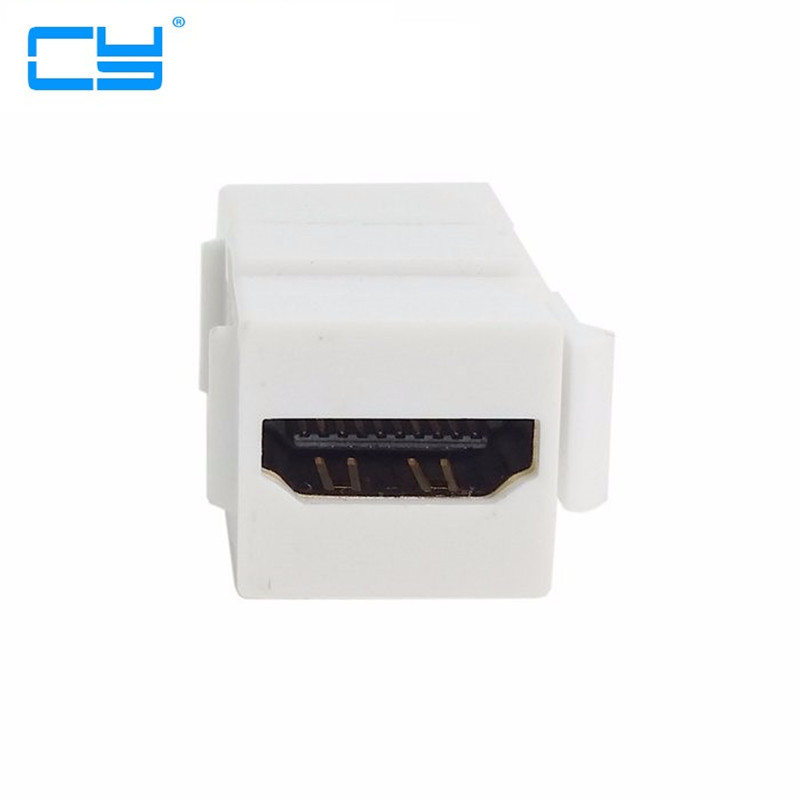 100pcs/lot HDMI 1.4 Snap-in Female to Female F/F Keystone Jack Coupler Adapter for Wall Plate White 5pcs lot high quality 2 pin snap in on off position snap boat button switch 12v 110v 250v t1405 p0 5