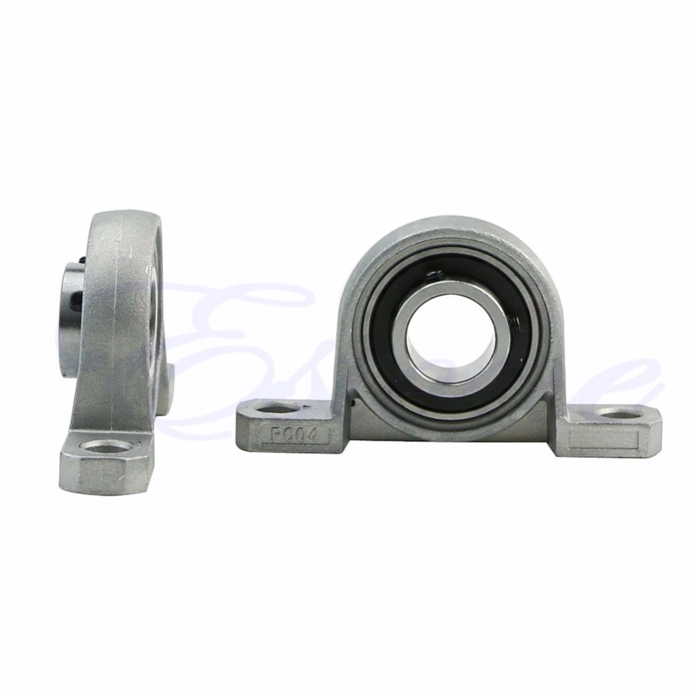2X Zinc Alloy Diameter 20mm Bore Ball Bearing Pillow Block Mounted Support KP004 #S018Y# High Quality