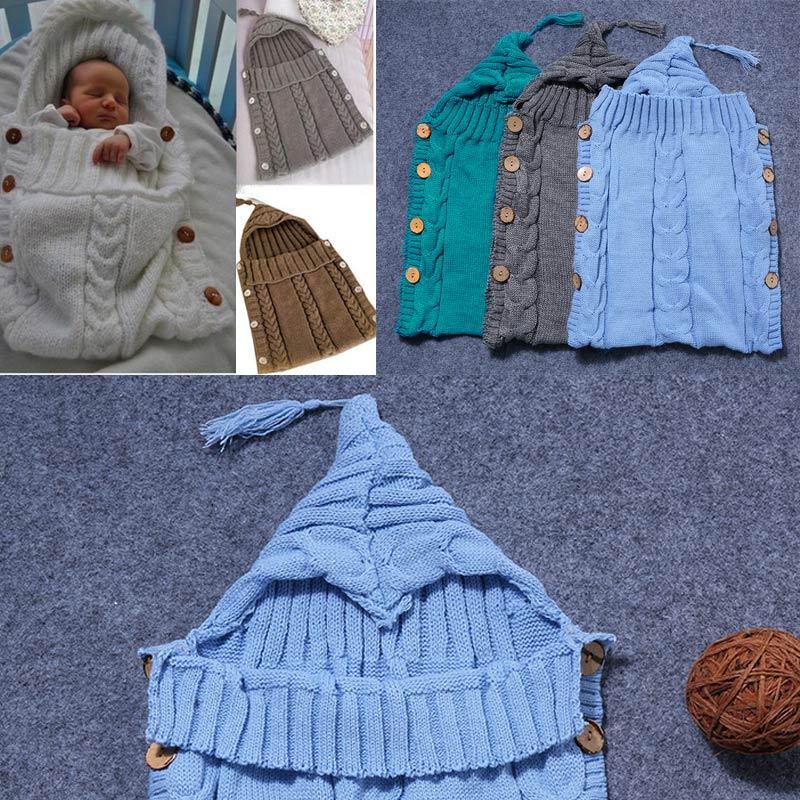 2018 New Newborn Baby Wrap Sleeping Bag Swaddle Blanket Kids Toddler Knitted Blanket Sleep Sack Stroller Wrap 88 -17