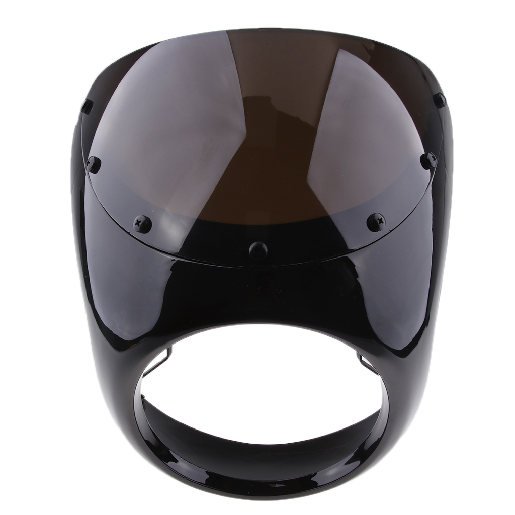 7 Motorcycle Universal Retro Headlight Fairing Wind Screen For Cafe Racer Less Turbulence Improves Stability Performance
