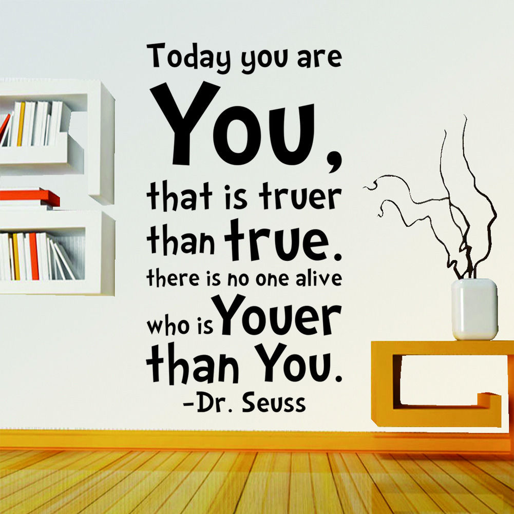 vinyl decor wall picture more detailed picture about you are you you are you dr seuss quote words wall decals sticker vinyl mural home decor kku