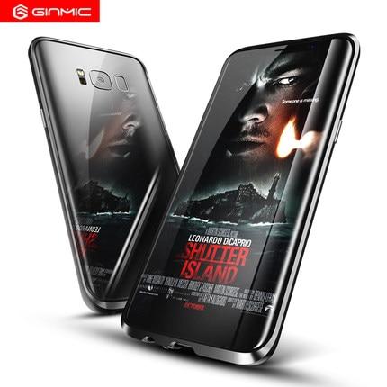 imágenes para Ginmic Caso Para SAMSUNG S8/S8 S8 Teléfono Más Móvil Cáscara Del Metal Caja Del Teléfono Móvil Caso de Parachoques Ultra Ligero