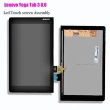Lenovo Yoga Tab 3 8.0 için YT3 850M YT3 850F YT3 850L lcd ekran ile dokunmatik ekranlı sayısallaştırıcı grup orijinal