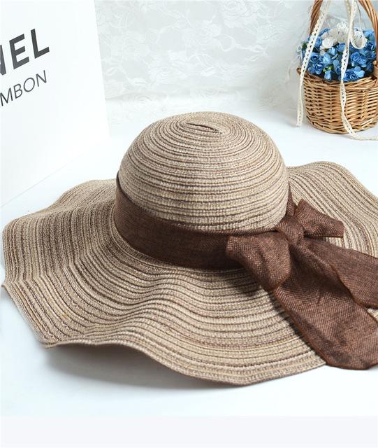 2016 primavera modelos calientes damas de algodón sombrero de paja sombrero para el sol sombrero de visera de proa