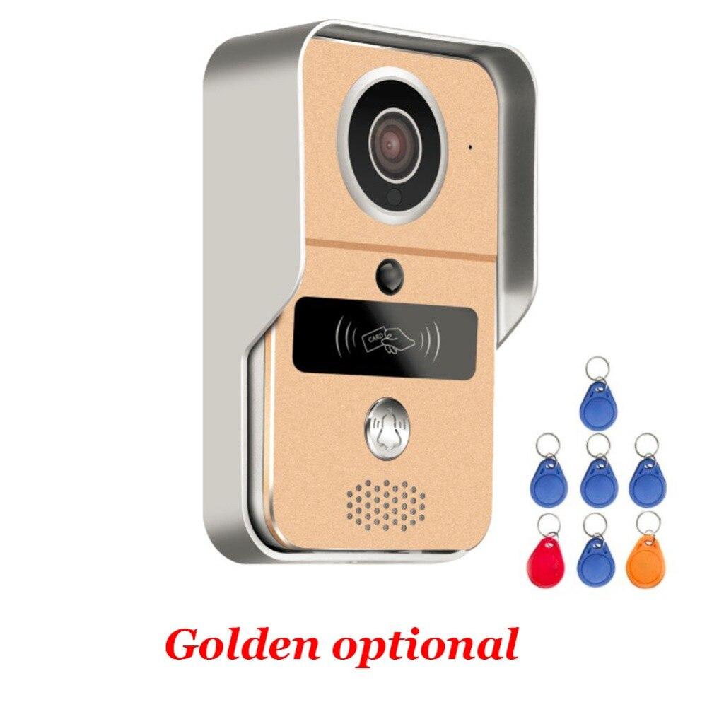 Wireless Sd karte Video Aufnahme Video Tür Telefon + RFID Keyfobs + Innen Glocke Wifi IP Tür Glocke POE Kamera für ONVIF Verbinden NVR - 3