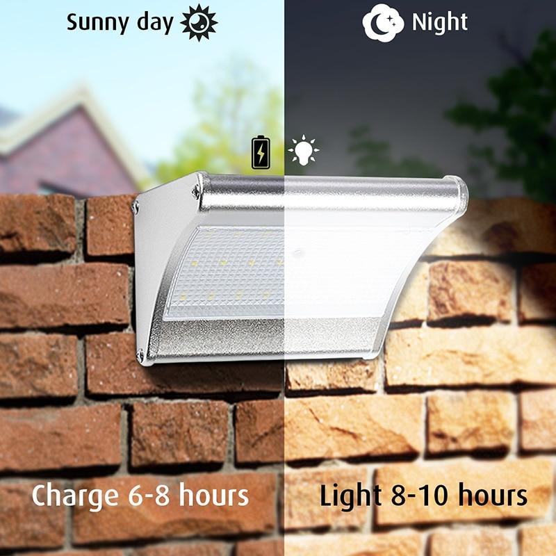 60 LED Solar Light Garden Lamp Radar Motion Sensor Solar Panel Powered Energy Wall Lamp Outdoor Pathway Street Security Lights