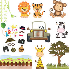 Primavera bosque Animal León Tigre Monky Metal corte troquelados plantillas para DIY Scrapbooking decoración en relieve tarjeta artesanal troquelado(China)