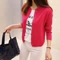 New Autumn Spring Cardigan Women Sweater Casual Female Long Sleeve Knitted Sweater Short Cardigan Coat