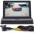 4.3 Monitor do carro da polegada imagem Invertendo Sistema de visão Traseira de Estacionamento Câmera de visão Traseira do carro detector carro electronice revere imagem
