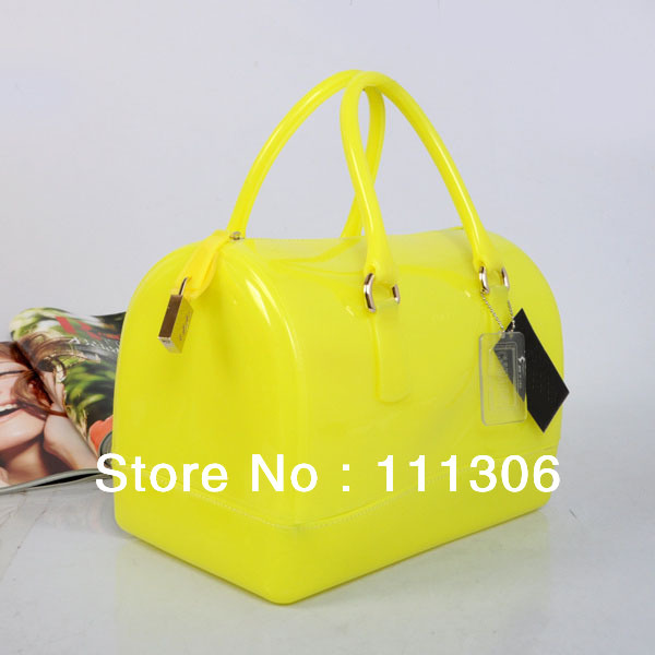 2013 New Italy Famous Brand Candy jelly Bag Summer New Fashion Women's casual handbags Name Designer Brand Tops Free Shipping