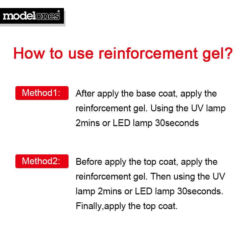 Modelones לחזק ג 'ל פולני להגן על ציפורניים UV מסמר לכה פולני משרים את מעיל בסיס ציפורן פריימר למעלה מעיל חיזוק UV ג 'ל