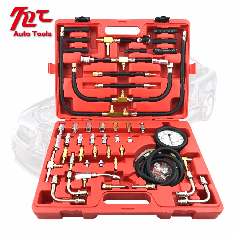 TU-443 Deluxe Manometer Fuel Pressure Gauge Engine Testing Kit Fuel Injection Pump Tester