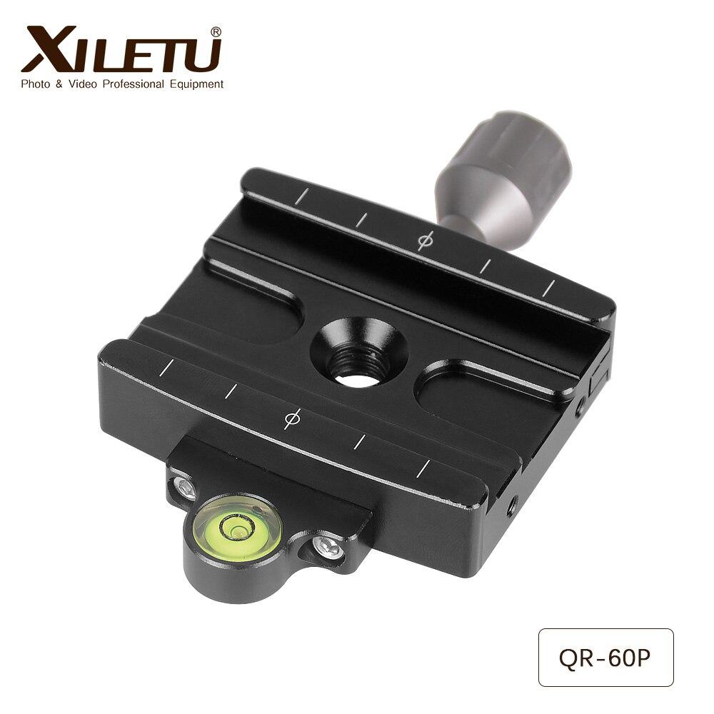 Free Shipping XILETU QR-60P Camera Tripod Monopod Clamp Adapter Quick Release Clamp For Manfrotto Gitzo RRS ARCA-SWISS SIRUI