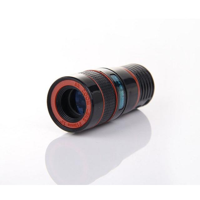 Portátil Universal Clipe de Plástico 18mm Grande Angular Telefoto 8X Kit Telefone Lente Da Câmera com Tripé para iPhone Samsung tudo smartphones