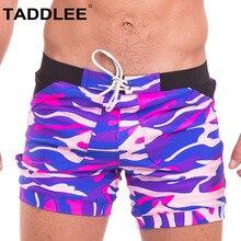 Taddlee Swimwear Men Swimsuits Sexy Swim Boxer Briefs Bikini Gay Penis Pouch WJ Board Surf Shorts Trunks 2018 Low Rise Bathing