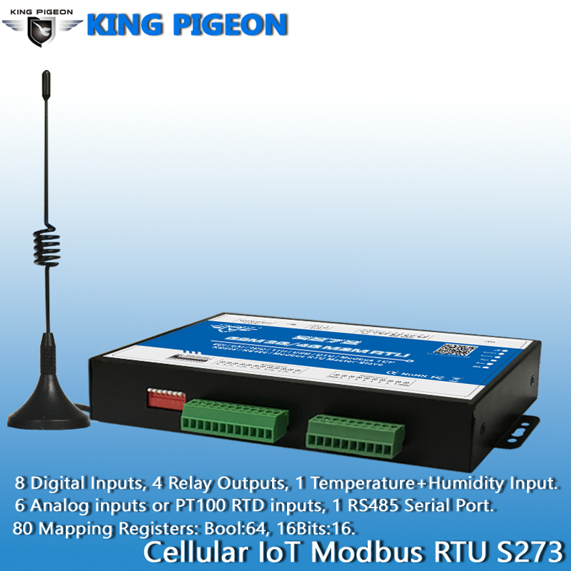 Image 4 - Wireless IIOT RTU Modbus Gateway S273 3G 4G LTE Telemetry Monitoring System Support Transparent transmission 8DI 6AI 4RO-in Alarm System Kits from Security & Protection