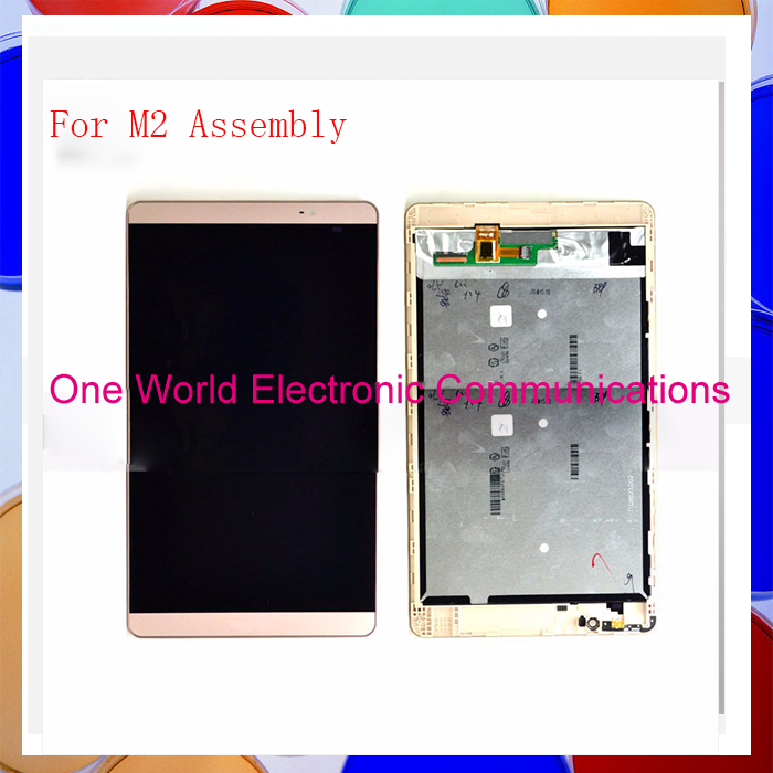ФОТО 10pcs original Top quality  Assembly LCD Digitizer Touch Screen Complete With Frame For Huawei  M2  tools Replacement  free ship