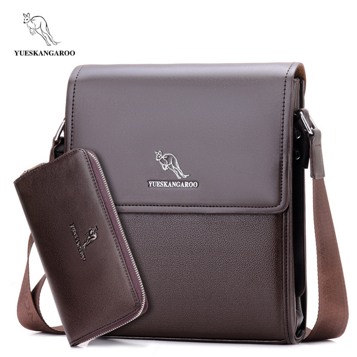Mens Fashion Business High Quality Leather Shoulder Bags PU Crossbody Bag Casual OL Messenger Bag Vertical Male Bags With Wallet high quality pu leather bag business casual men messenger bags vintage crossbody travel shoulder bag fashion school book bag