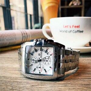 Image 3 - Mens שעונים למעלה מותג יוקרה Megir הכרונוגרף & תאריך אוטומטי עמיד למים נירוסטה רצועת חיצוני ספורט שעון יד שעון