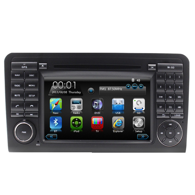 Controle Da Roda de direcção Do Bluetooth Som Automotivo Parágrafo Carro de Navegação GPS Para Mercedes ML350 Wince6.0 RDS Radio Stereo Vídeo MP3