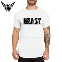 Brand clothing Mens Beast gyms tshirt extra long compression shirt bodybuilding and fitness male t shirt homme