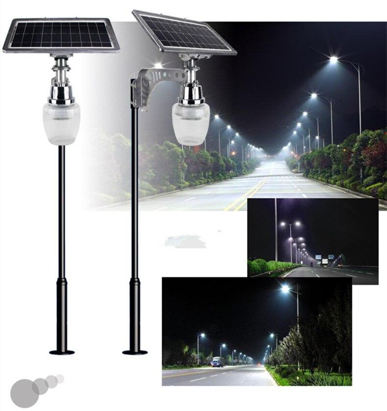 6 w movido a energia solar levou luz de rua de microondas motion sensor led lamp quintal/integrado de iluminação do jardim ao ar livre luz da parede luz - 2