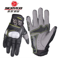 2018 Summer breathable SCOYCO MC49 motorcycle gloves , shatter resistant shell locomotive knight moto gloves M L XL XXL