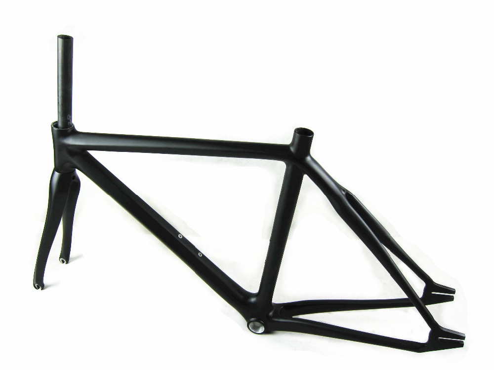 free shipping carbon fixed gear frame carbon frame carbon track bike fixed gear bicycle frame 53cm 55cm 58cm fixed gear bike frame matte black bike frame fixie bicycle frame aluminum alloy frame with carbon fork