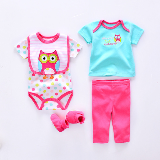 Ropa del bebé del verano Sets algodón baby girl ropa recién nacido 5 unids  juego infantil 1a571a964779