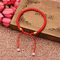 Los hombres de las mujeres de buena suerte pulsera trenzado suerte brazalete rojo cuerda pulsera regalo de la joyería
